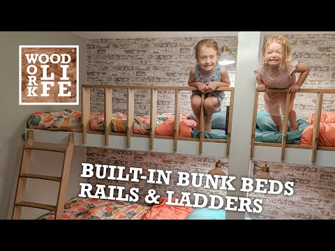 Built-In Bunk Beds - Rails & Ladders | Woodworking Builds