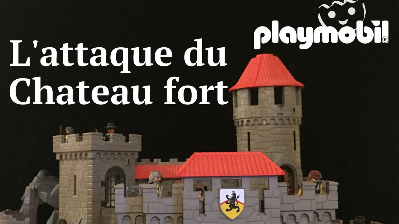 playmobil l 39 attaque du chateau fort youtube. Black Bedroom Furniture Sets. Home Design Ideas