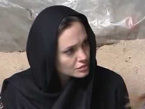 Angelina Jolie visits UNHCR operation in Afghanistan