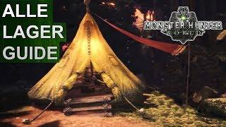 Monster Hunter World: Alle Lager / Camps Guide (Deutsch/German)