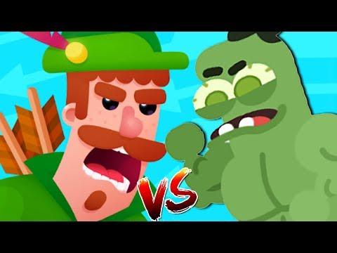 Run Sausage Run! NEW SKIN HULK Super Hero vs Bowmasters Legendary Challenge Android/iOS Gameplay