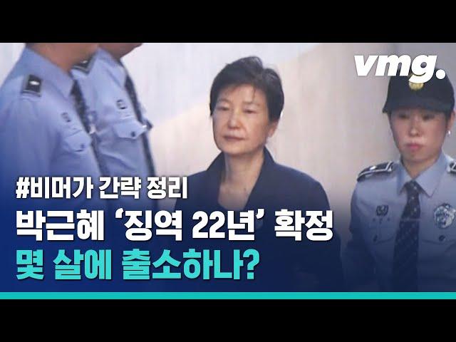 박근혜 재판 오늘로 완전 끝! 형량 출소 나이 간략 설명 / 비디오머그
