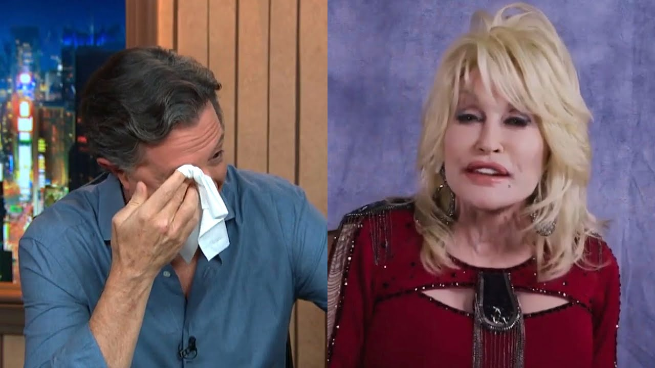 Stephen Colbert Breaks Down in Tears During Dolly Parton Interview