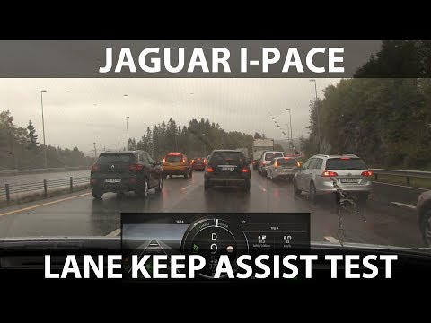 I-Pace auto steer test in traffic