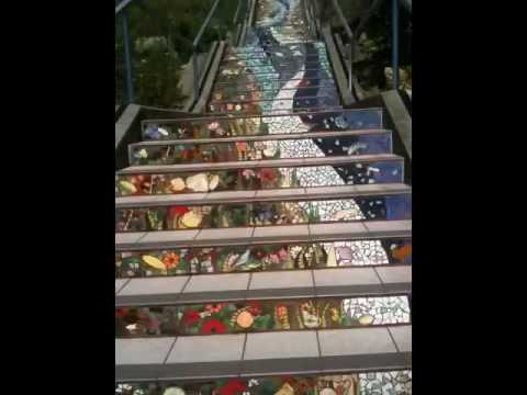 San Francisco Mosaic Tile Stairs (part 2)