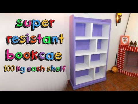 Awesome crafts that you can do with cardboard - super resistant bookcase DIY