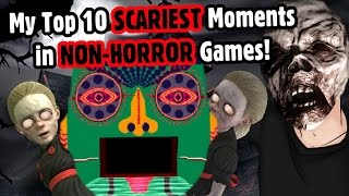 Top 10 SCARIEST Moments in NON-HORROR Games! - Caddicarus