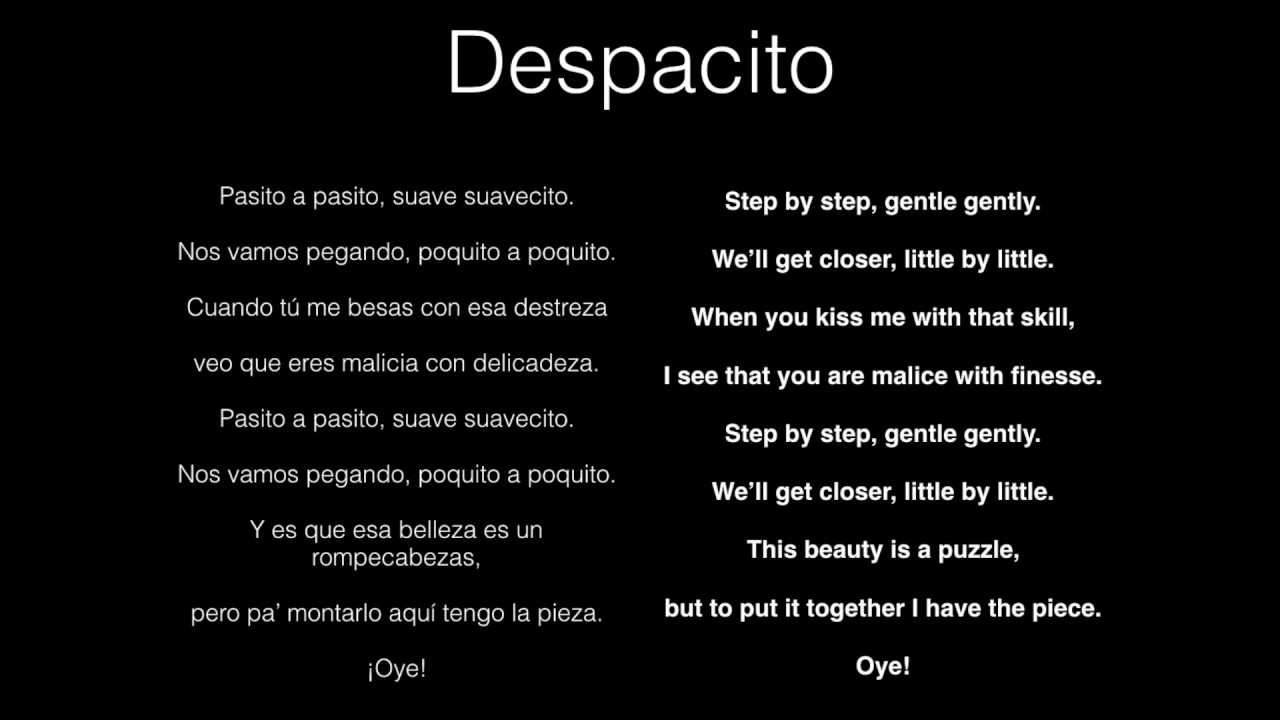 despacito in english luis fonsi despacito spanish we translated