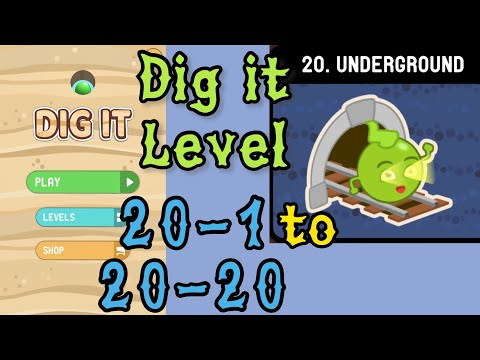 Dig it Level 20-1 to 20-20 | Underground | Chapter 20 level 1-20 Solution Walkthrough