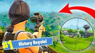 WORLD RECORD FORTNITE SNIPER SHOT! (Fortnite: Battle Royale)