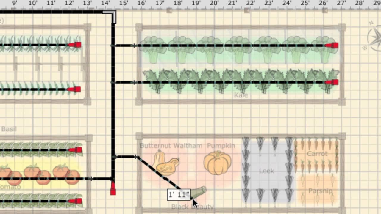 diagram of raised garden bed [ 1280 x 720 Pixel ]