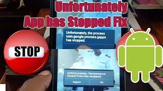 Unfortunately App has Stopped best Fix