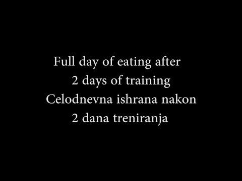 Full day of eating after 2 days of training - Celodnevna ishrana nakon 2 dana treniranja