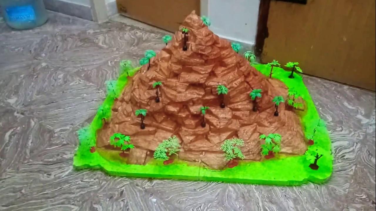 How To Make A Mountain Cake Youtube