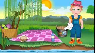 Малышка Джульетта на рыбалке - игра для девочек.