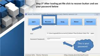 Atom TechSoft outlook password recovery software