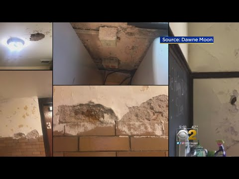 Leaky Roof At Rogers Park Elementary School