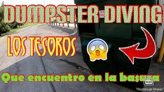♻️ENCONTRÉ🤑 Cosas Muy Buenas/DUMPSTER DIVING/LO QUE TIRAN EN USA🇺🇸