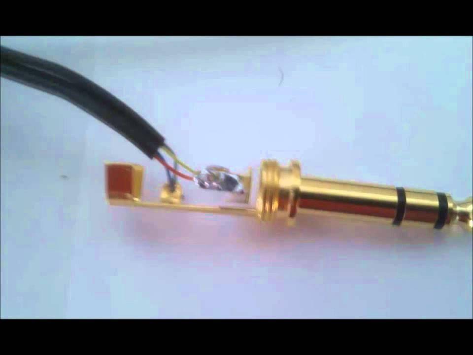How to fix/replace Sennheiser HD25\u0027s headphone jack - YouTube