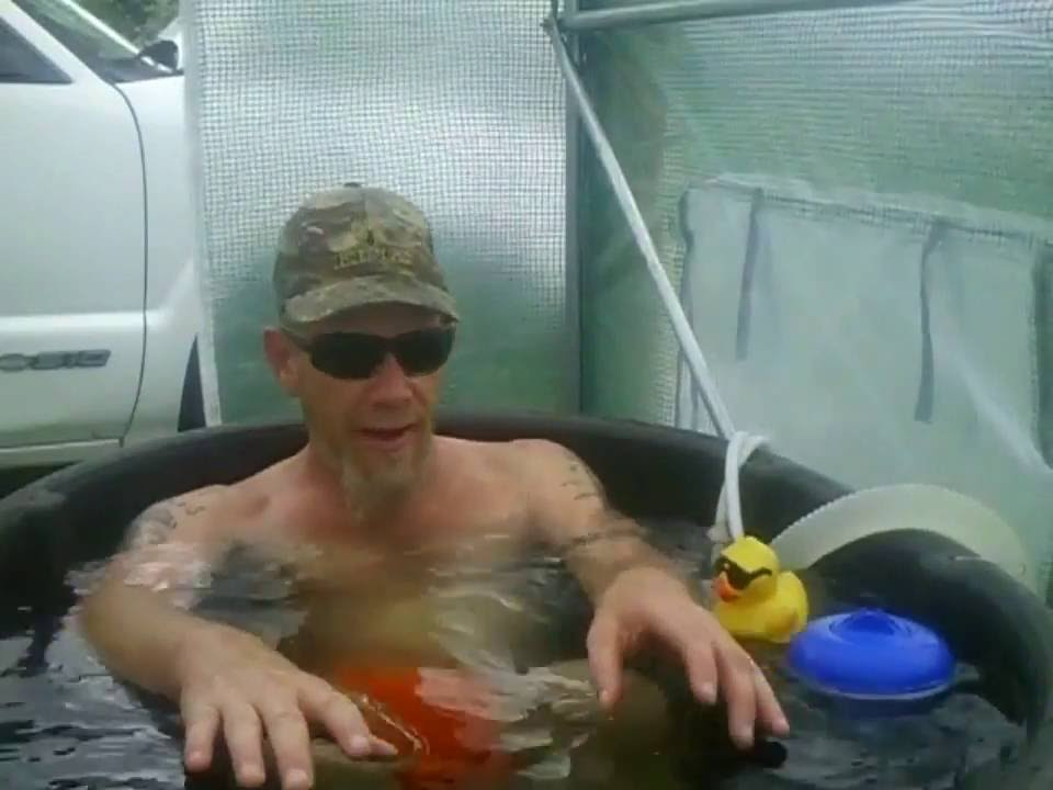 Off Grid Japanese Soaking Tub And Greenhouse Spa Youtube
