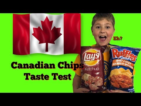 Canadian Chips Taste Test (Ketchup Chips & Sweet And Spicy Ruffles) | Vito The Kid