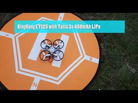 Tattu 2s 800mAh And 3s 450 MAh Lipo Test With KingKong ET125 FPV Racing Quadcopter