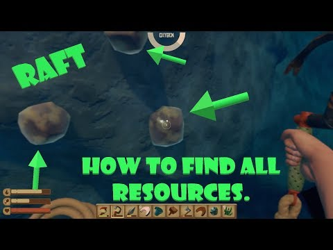 How to find Resources + Iron + Copper + Sand + Clay - Raft - Open World Ocean Survival