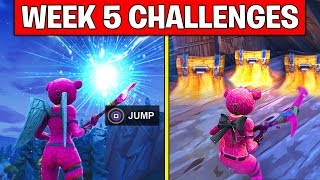 FORTNITE WEEK 5 SEASON 5 CHALLENGES! – Use Rift Portals, Search chests in Junk Junction ALL LOCATION