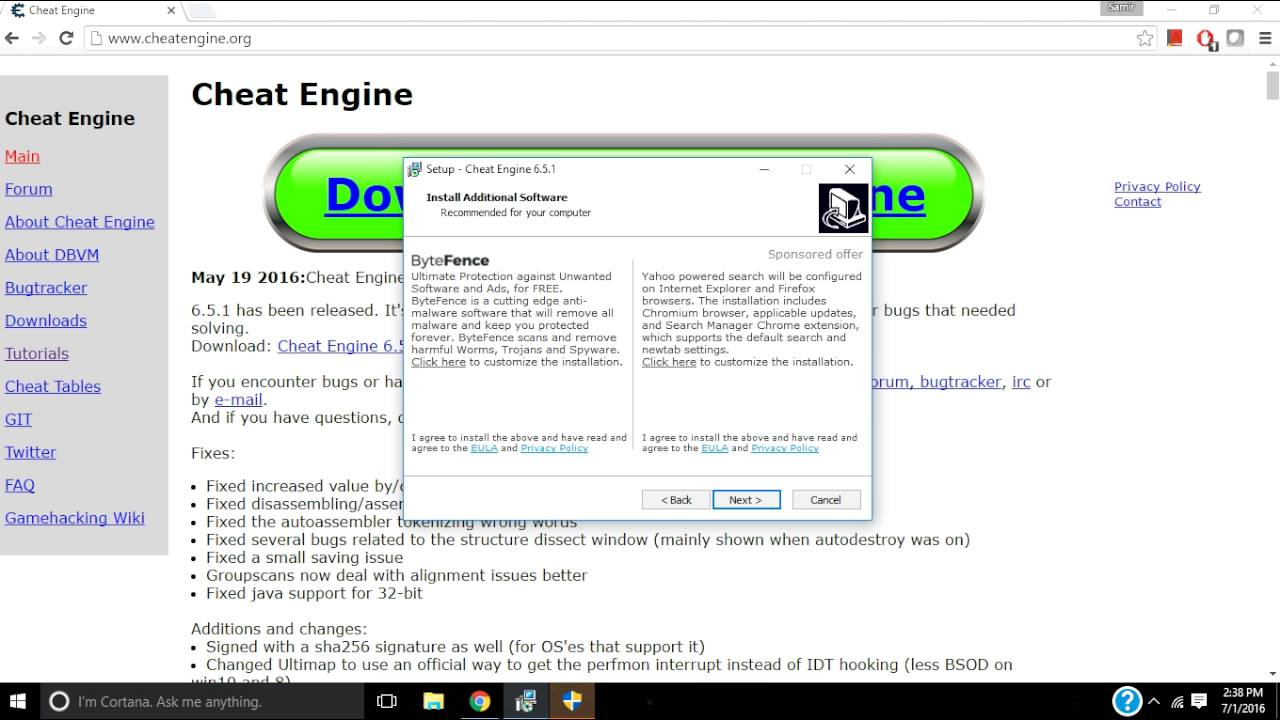 cheat engine 6.6 free download for windows 10 64 bit