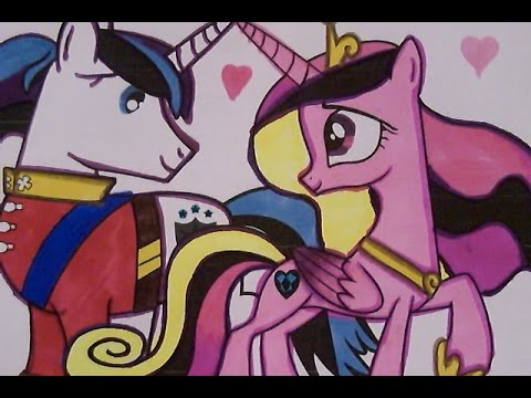 Coloring Book Fun My Little Pony Princess Cadence And Her Husband Shining Armour