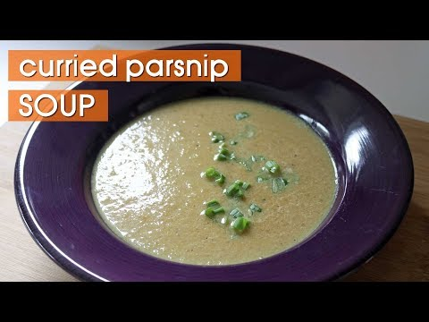How to Make Healthy Vegan Creamy Curry Parsnip Soup