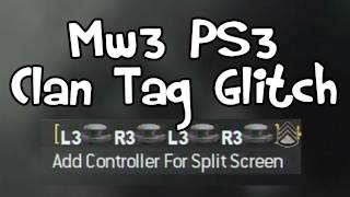 MW3 - Buttons In Clan Tag Glitch Tutorial (PS3)