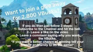 "NEW ""FREE VBUCKS"" Free vbuck giveaway In Fortnite Battle Royale"