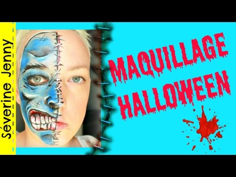 maquillage halloween qui fait peur squelette youtube. Black Bedroom Furniture Sets. Home Design Ideas