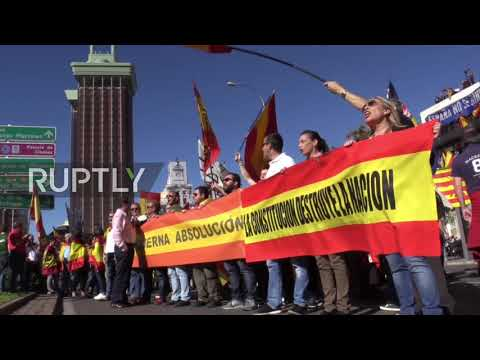 Spain: 'Catalonia is Spain!' - Protesters rally against Catalan independence in Madrid