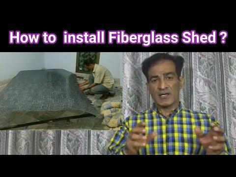 Fiberglass shed/ How do you install Fiber shed/Fiberglass /Fiber Shed