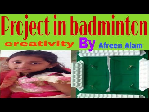 Project on badminton for class 3'A' Afreen Alam Dr.Rizvi learner's' academy jnp CBSE
