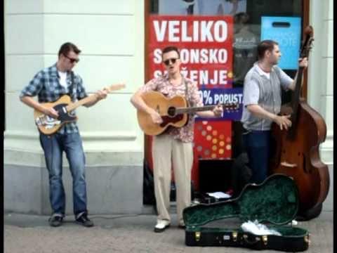 Rockabilly Busking -  Stop  The World & Rip It Up , Zagreb, Croatia