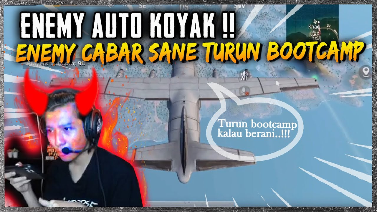 SERIUS LAHH !! PRO-PLAYER DICABAR PUBLIC BACOT TURUN BOOTCAMP | SOLO VS SQUAD | PUBG MOBILE