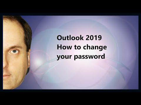 Change password in outlook 2020 exchange account