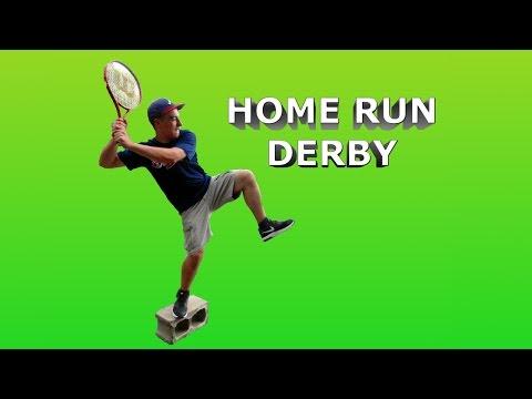 Tennis Baseball Home Run Derby | Trick Shots 4 Real