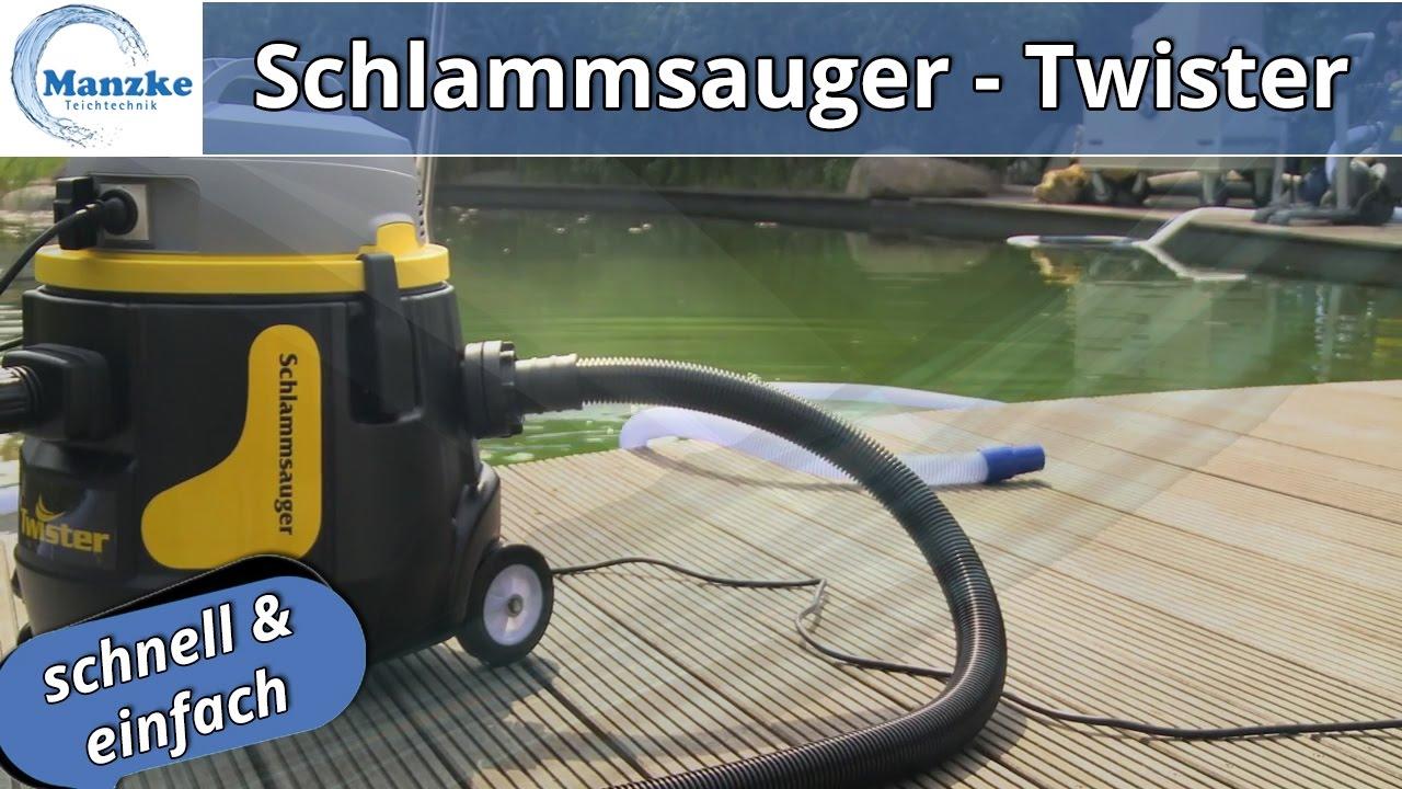 Teichreinigung Teichschlammsauger Twister