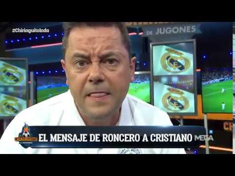 """Tomás Roncero, a Cristiano: """"Dime que esto no es por dinero"""""""