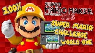 I FOUND YOU!   Super Mario Maker 3DS   World 1   100%
