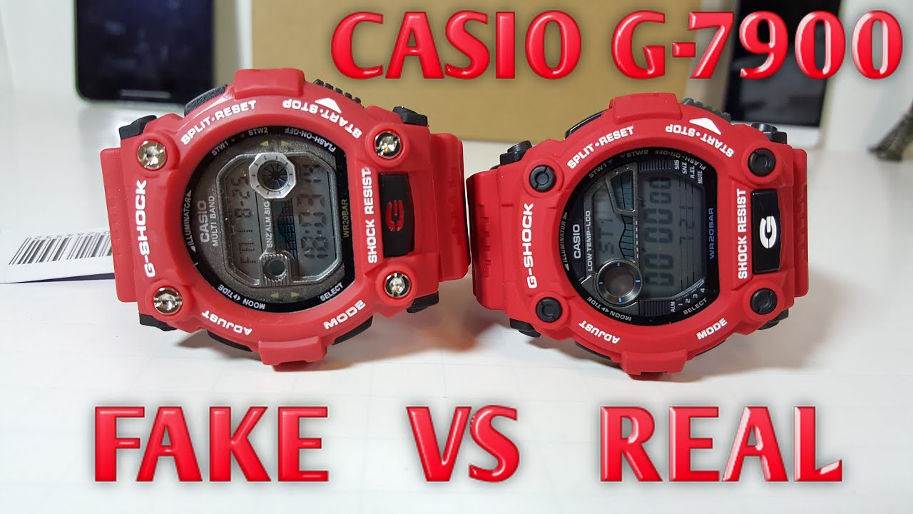 Casio G Shock 7900 Real Vs Fake Dont Get Fooled Into Buying Jam Tangan Gshock Original Gd 400 4dr Products