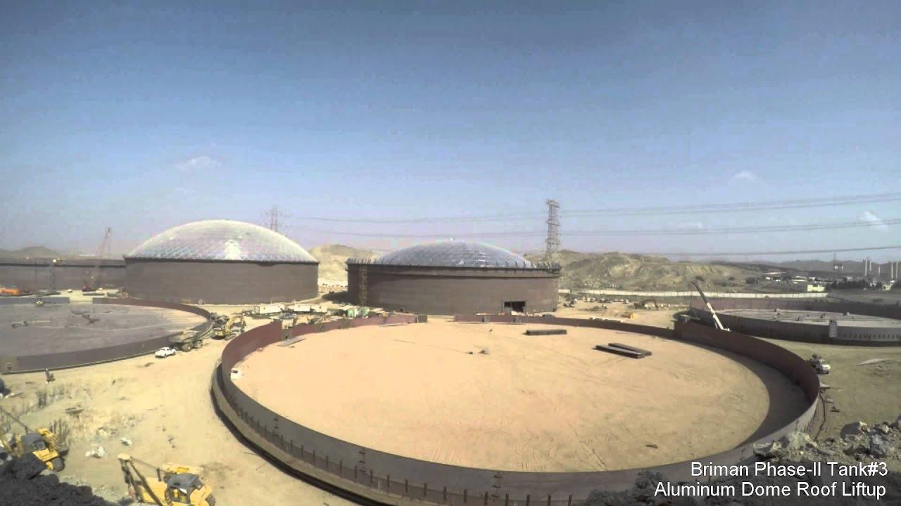 Aluminum Dome Roof Lifting Operation for 110mt dia. API 650 Reservoir & Aluminum Dome Roof Lifting Operation for 110mt dia. API 650 ... memphite.com