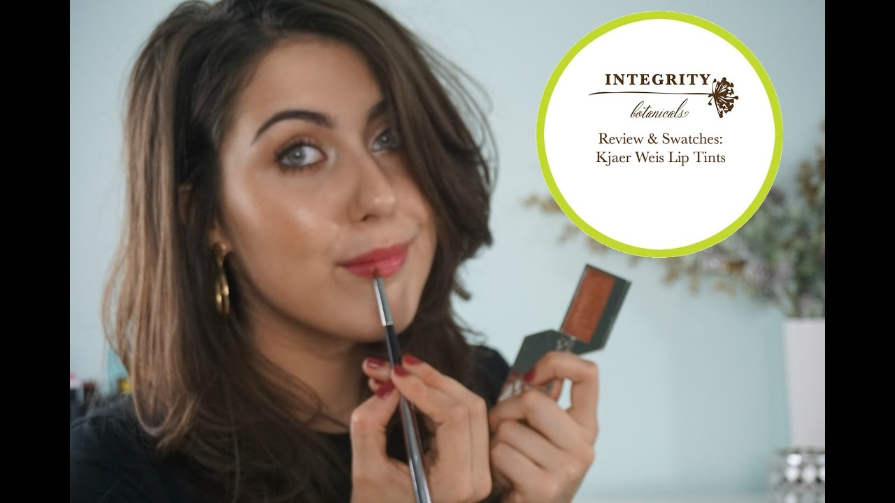 REVIEW & SWATCHES: KJAER WEIS LIP TINTS | Integrity Botanicals ...