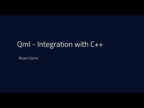 QML - Integration with C++ {tutorial}