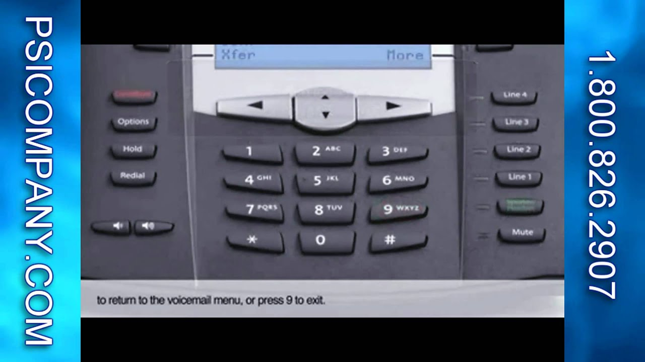 8x8 6755i Voice Mail Greetings And Operation For Voip Telephone