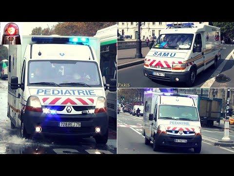 SAMU De Paris Ambulance - Compilation // Paris Ambulances Responding